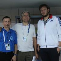 Mariusz Frąckowiak – Z pływackim M.Św. A. Leveaux i Z. Urbańczykiem (SZS Wielkopolska)