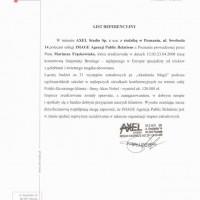 Wspólpraca z klientami – referencje Axel